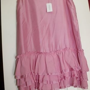 Banana Republic Silk Ruffles Tiered Fringe Skirt